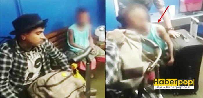 Polisin-hava-alanında-açtığı-bavuldan-çocuk-çıktı-video-haberİ