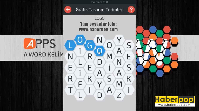 A Word Kelime Oyunu Tüm Soru ve Cevapları