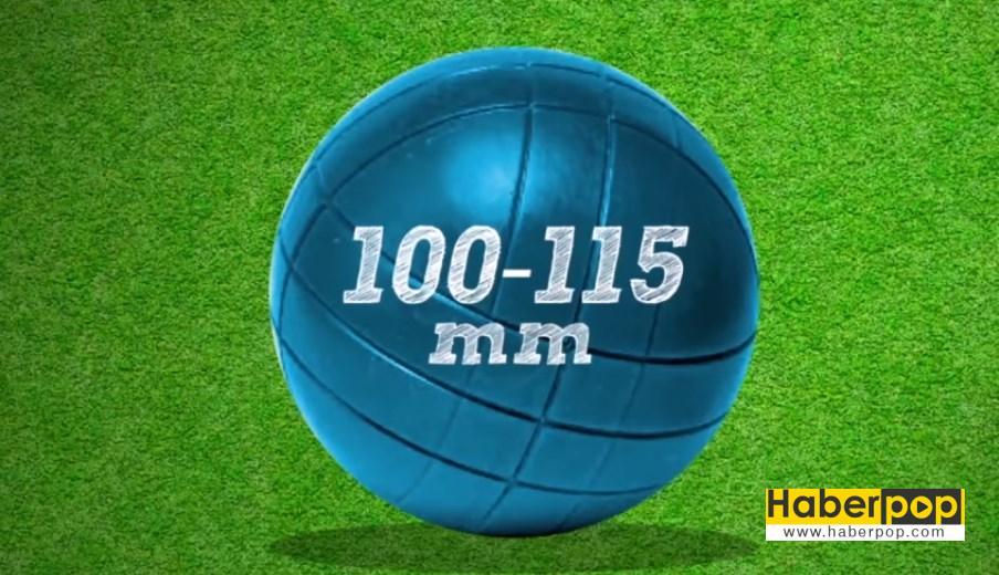 Bocce topu ve ölçüleri