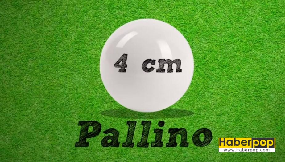 Bocce topu ölçüleri ve pallino
