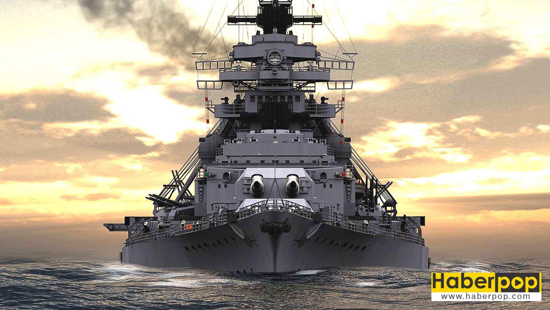 Dünyanın en büyük ve en güçlü savaş gemileri: Bismarck