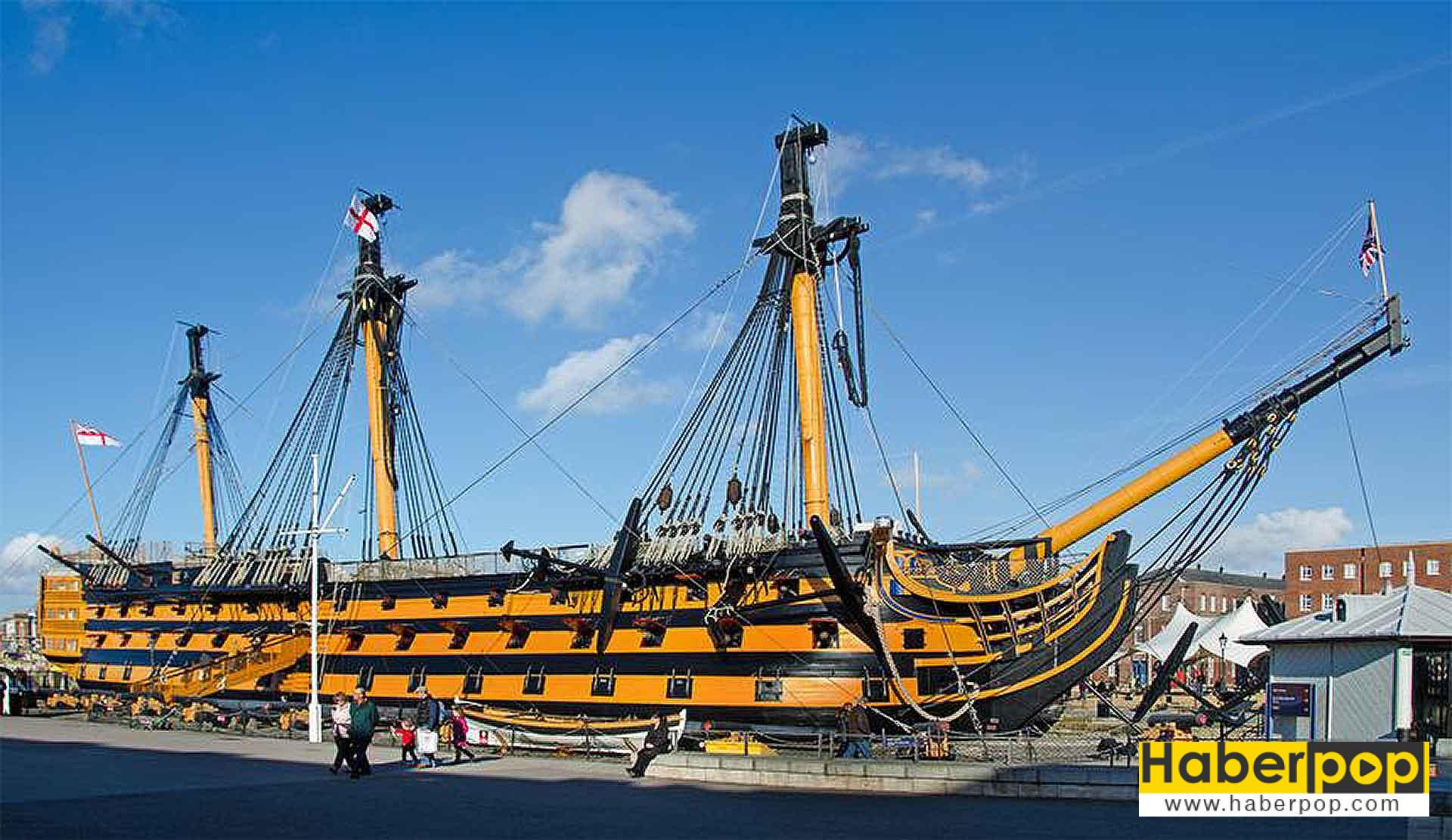 Dünyanın en büyük yelkenli savaş gemisi: HMS Victory