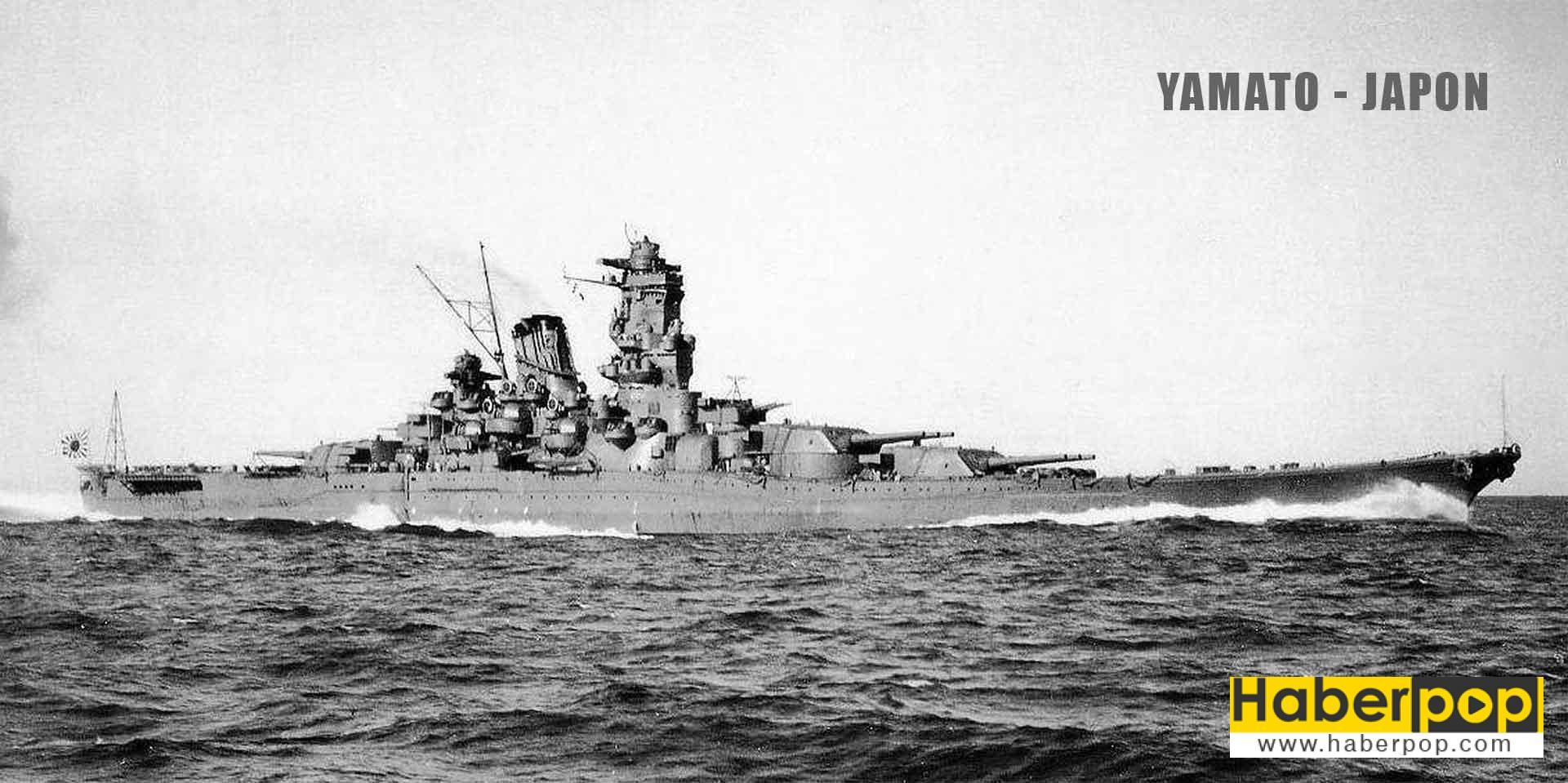 Dünyanın en büyük ve en güçlü savaş gemileri: Yamato